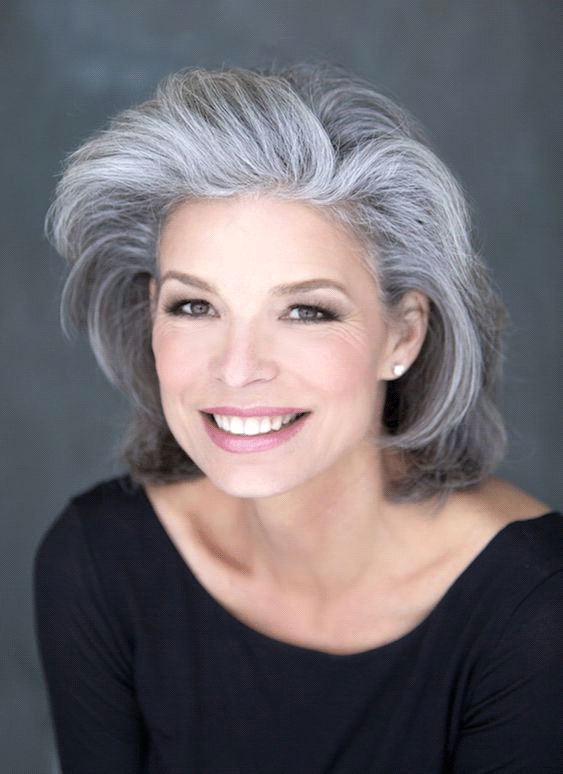 Gray Hairstyle Look