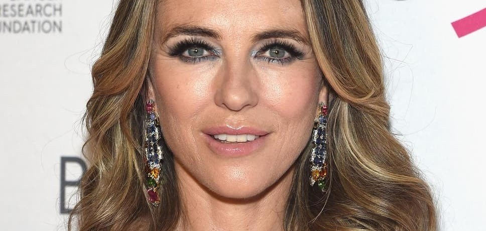 Elizabeth Hurley hairstyle at age 53