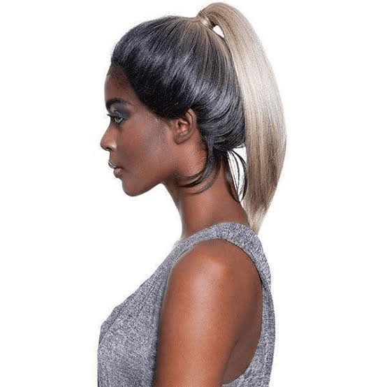 Lace Front Wig In a Ponytail