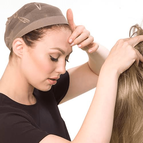 Putting a Wig Cap On