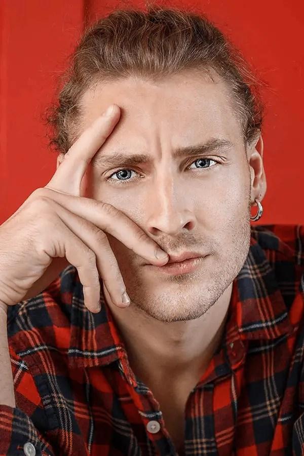 Earrings to hide big forehead
