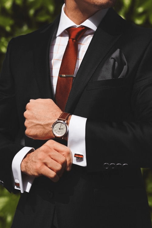 Cufflinks With a Suit