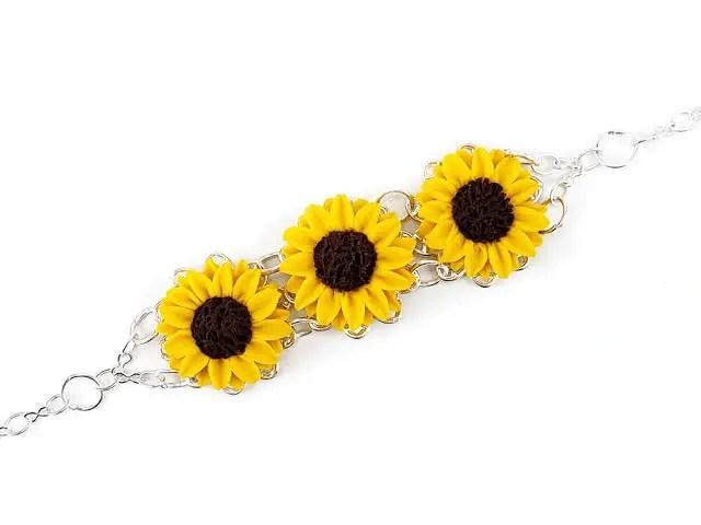 Sunflower Icon Bracelet