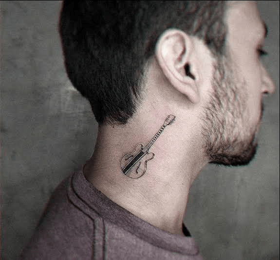 Guitar Neck Tattoo