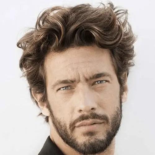 Man with medium hair