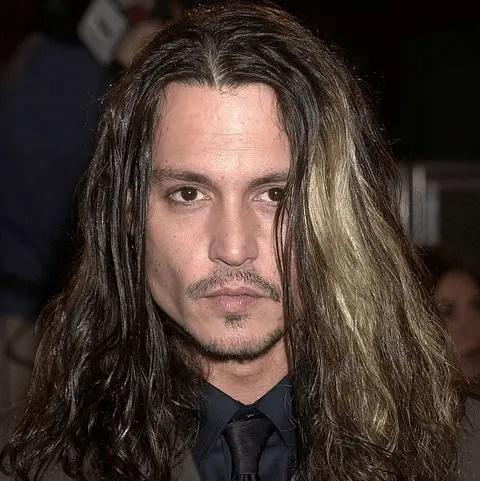 Open Hair Of Johnny Depp