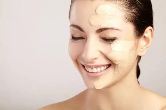 Women wearing foundation makeup
