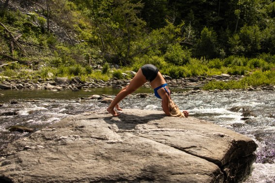 Yoga poses to transform your athleticism. [dolphin pose]