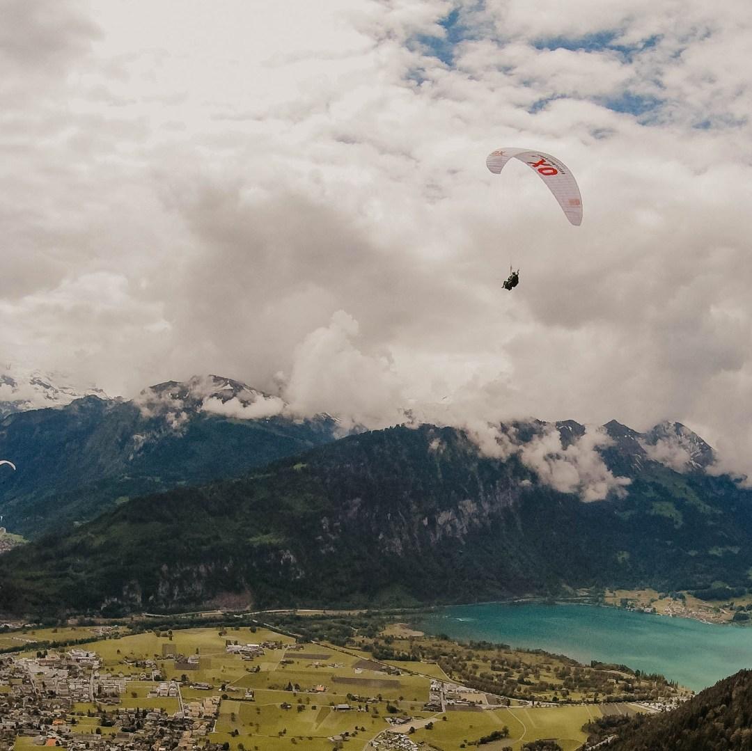Paragliding in the Alps (Interlaken, Switzerland)