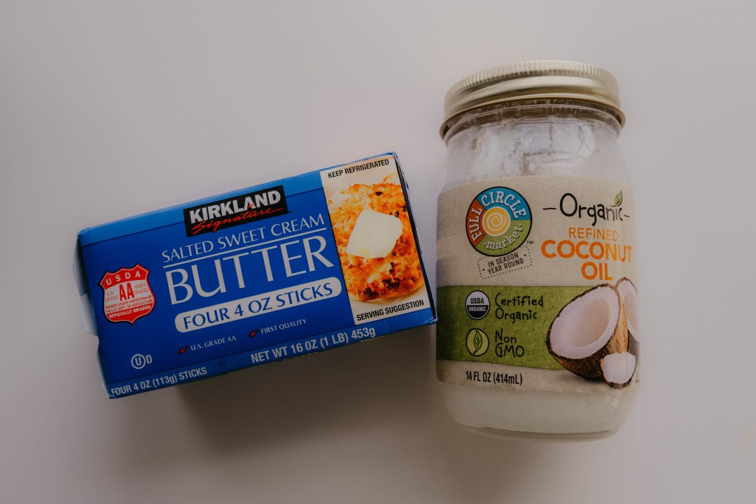 Butter and coconut oil are examples of saturated fats.