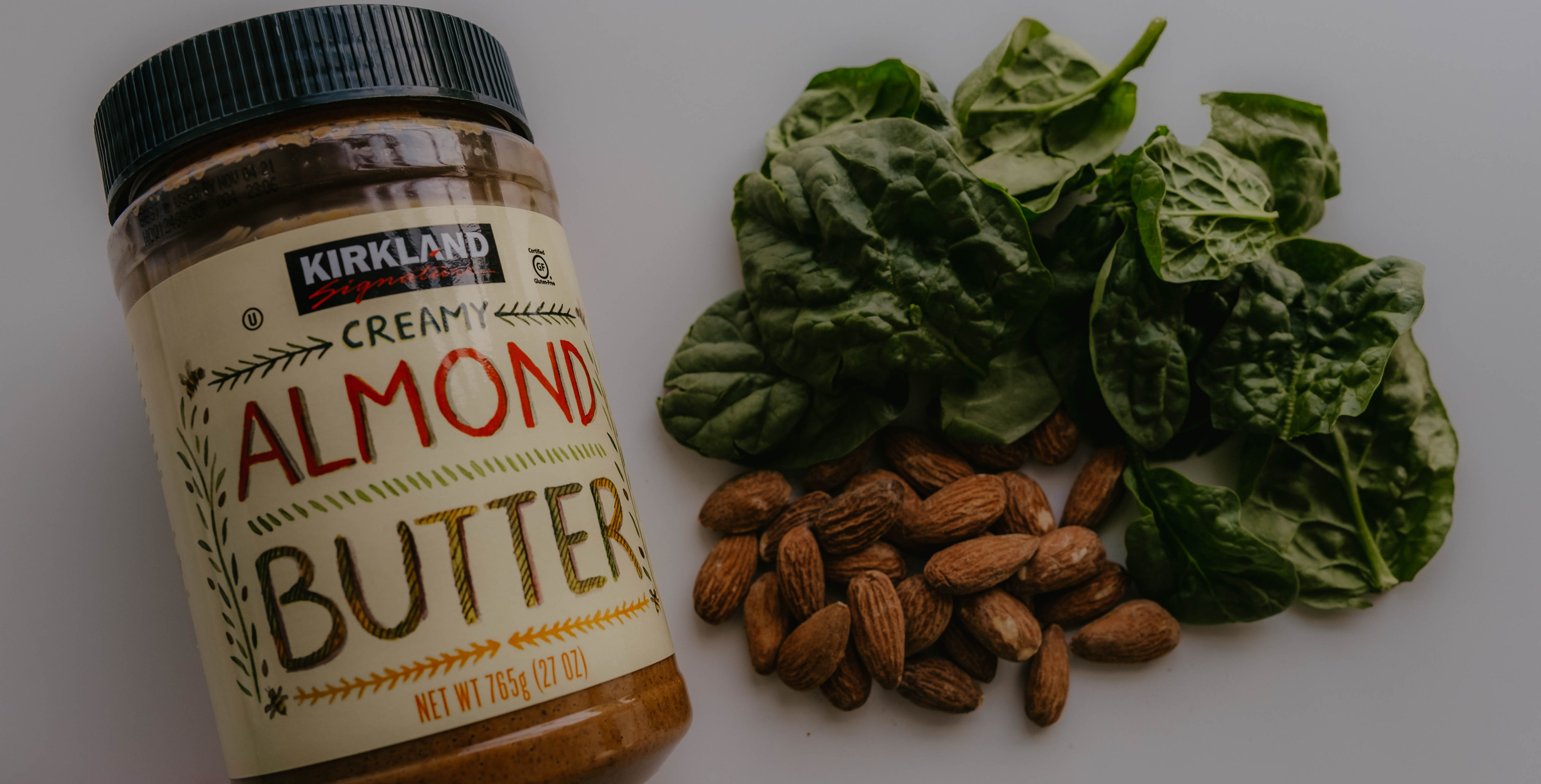 Almond butter, almonds, and kale provide healthy fats into your diet.