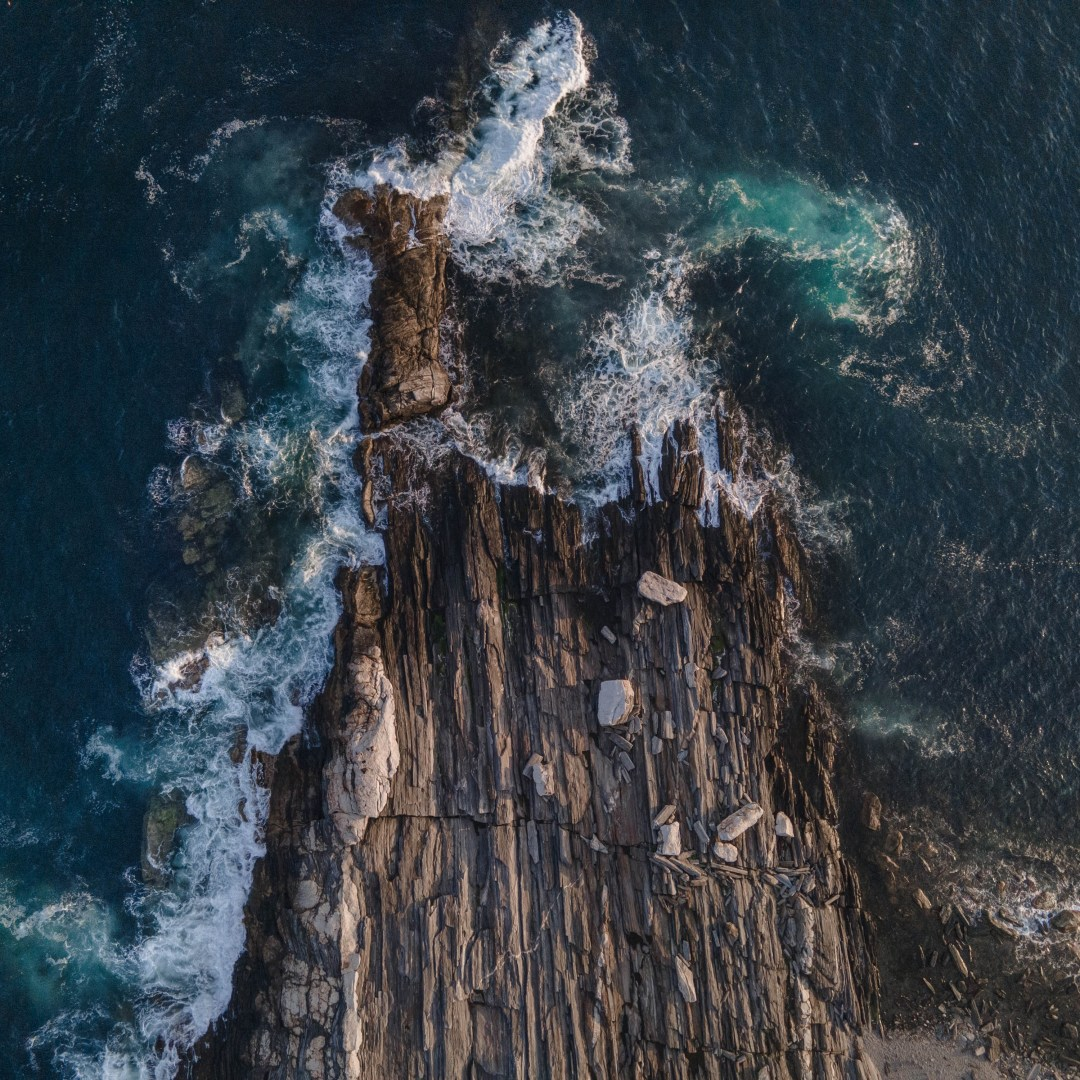 A bird's eye view of Maine, United States to create a stunning drone photo.