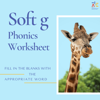 soft g phonics worksheet
