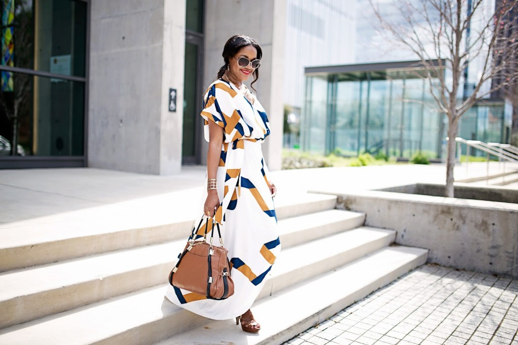 closet remix, shein geometric print maxi dress