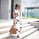closet remix, shein geometric print maxi dress