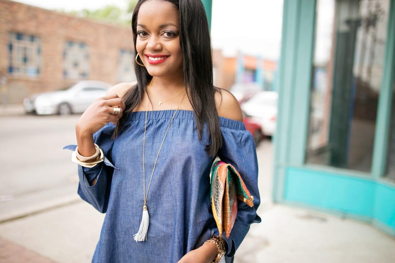 Shein- off shoulder top- off shoulder bow top- white flare jeans- how to wear flare jeans- how to wear off shoulder top- spring fashion- affordable fashion- fashion blogger- dallas blogger- black fashion blogger