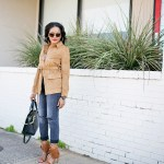 steve madden shay sandals, fringe sandals, suede jacket, h&m girlfriend jeans, gray and camel outfit, henri bendel whitney satchel, dallas fashion blogger, fashion blogger, how to wear fringe