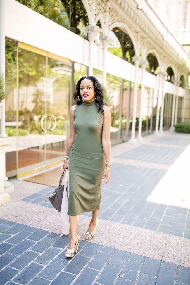 who what wear olive midi dress