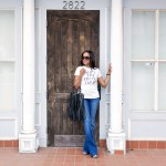 graphic tee, t and j designs, shut the front dior, casual outfit, graphic tee outfit, how to wear flares, dallas blogger, fashion blogger, black fashion blogger, fringe handbag