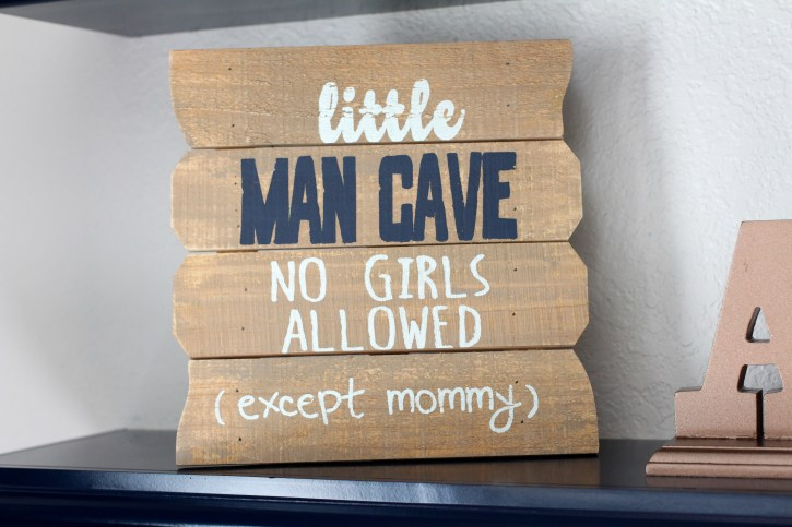 little man cave sign, nursery decor, boy nursery decor