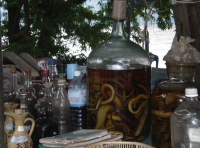Local whisky infused with…creepy crawlies