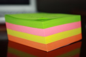 Layers of Post-it notes!