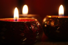 I'm always burning candles... I love the calming, cosy glow of those flickering flames!