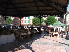 The under cover part of the market