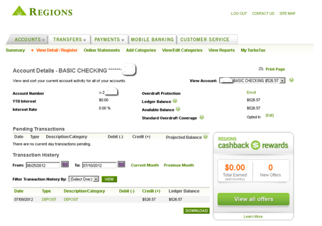 Regions Online Banking Personal Checking Sign In (theamateurconsumer.com)