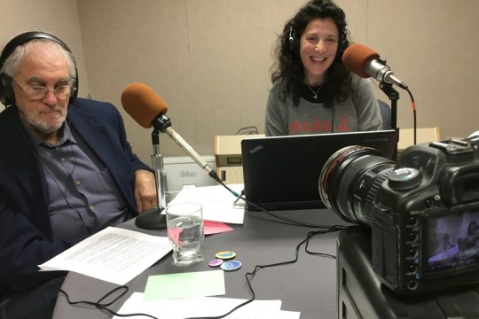 Dawn Gross interviews her first mentor, Jeffrey Mandel, a hospice and palliative medicine doctor, during the launch of her radio show Dying to Talk.