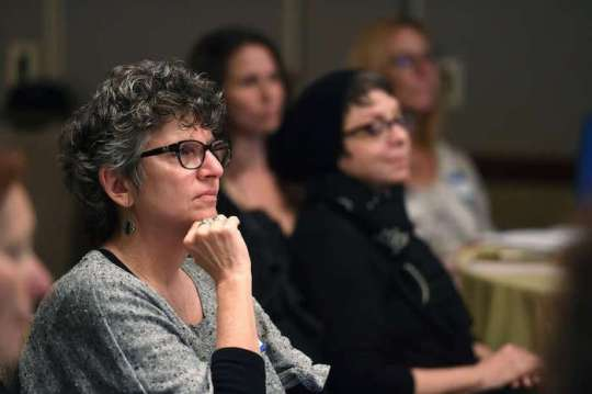 Lori Goldwyn attends the training session by the International End of Life Doula Association at the Omni Hotel.
