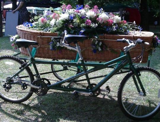 The UK's only tandem hearse is one such alternative idea being adopted to mark the life of a loved one Good Funeral Guide