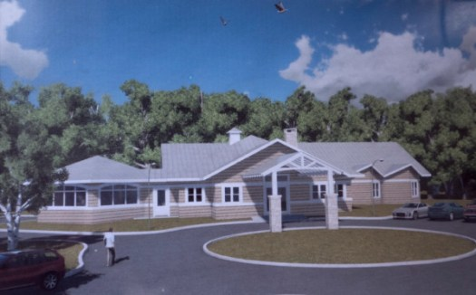 The artist's rendering of a building where Eddington resident Pat Eye is hoping to continue offering hospice services in Eddington.