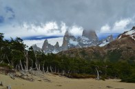 Mt,. Fitzroy peaking through the clouds