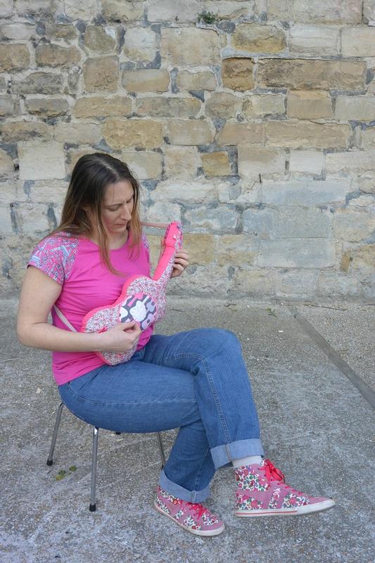 guitare rose (3)