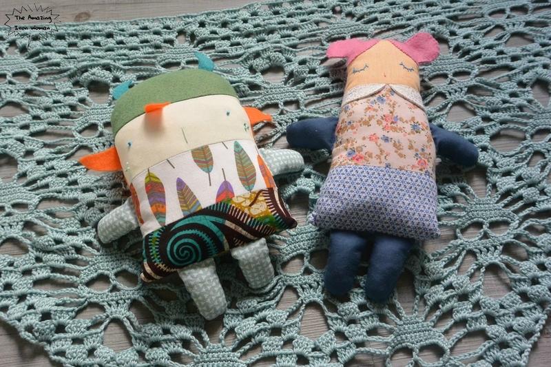 shawl skull et poupées à coudre