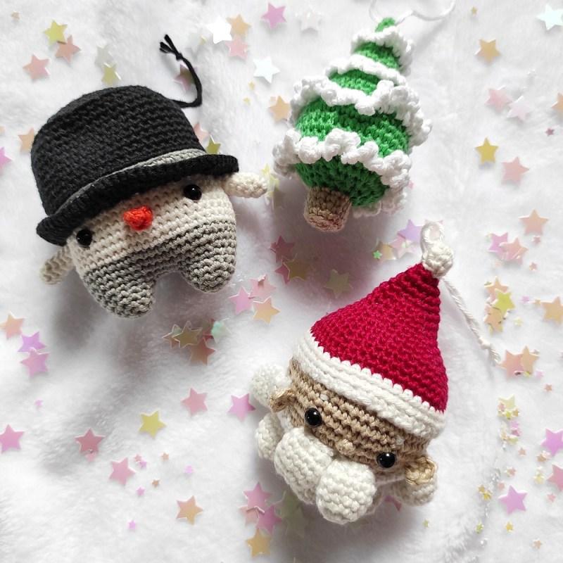 Bonhomme de neige saison Lalylala crochet sapin Père Noêl Ligne rétro The Amazing Iron Woman