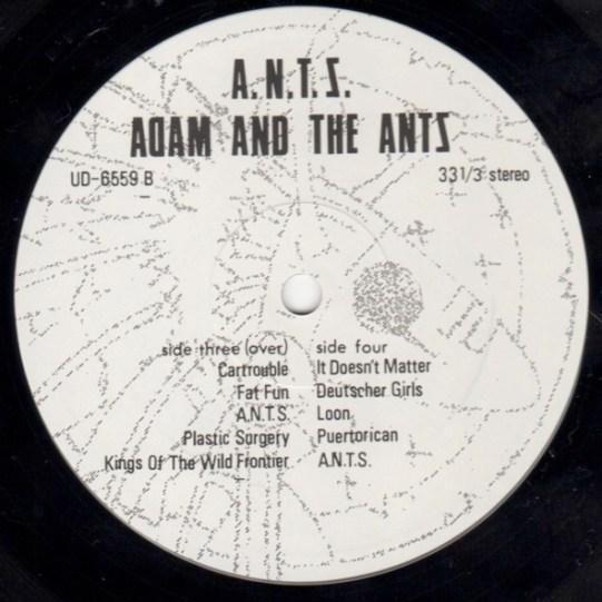 Adam & The Ants A.N.T.S. lbl 4