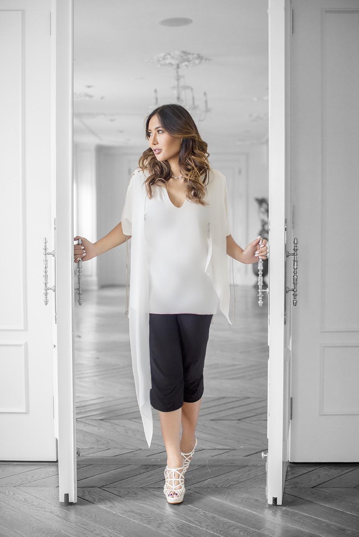 Fashionable Woman in Luxury Hotel