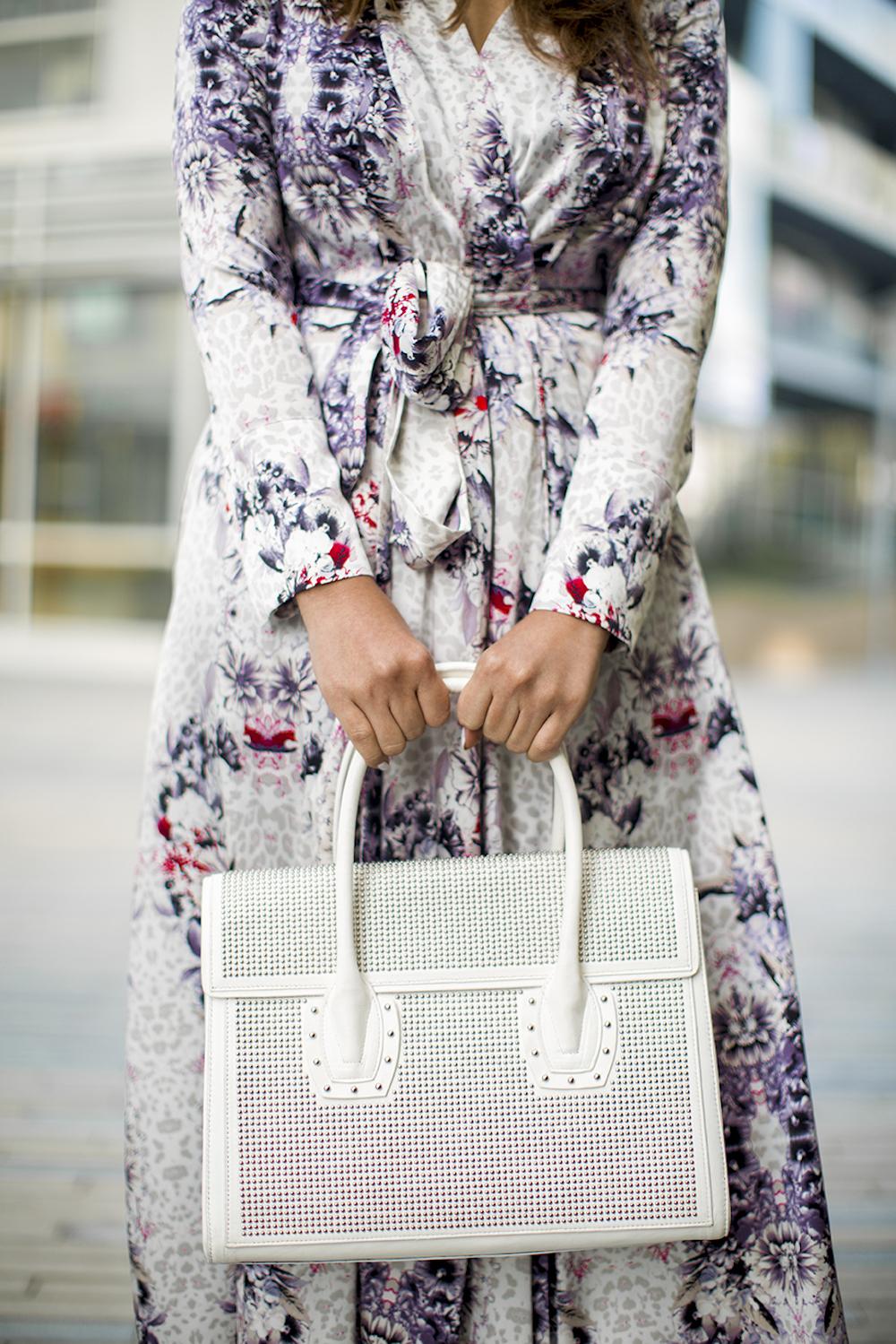 white studded bag