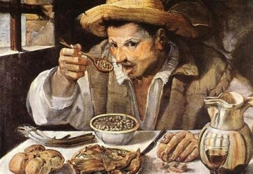 "Annibale Carracci's ""The beaneater,"" 1580."