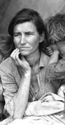 Destitute pea pickers in California. Mother of seven children. Age 32.