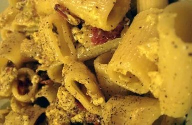 Carbonara was probably the result of some leftover (cured pork in this case) that nobody knew what to do with.