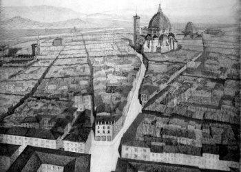 1930s plans to modernize Florence's Santa Croce neighborhood.