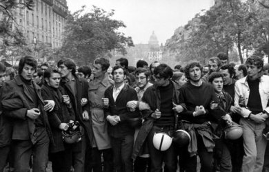 Paris May 1968, shot by Henri Cartier-Bresson.