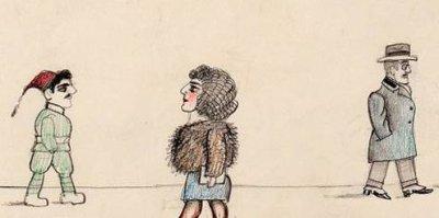 Detail from Saul Steinberg 1930s Italian sketch.