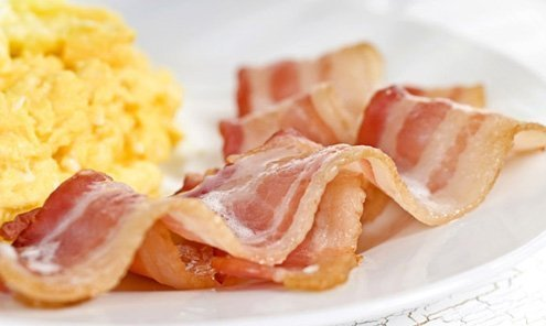 Italian pancetta is thick and heavy, bearing no resemblance to what you get in Australia.