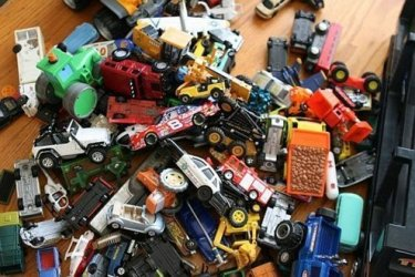 Battery-powered toys are the hardest ones to give away.