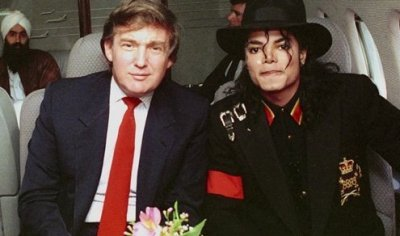 Trump and Michael Jackson in 1989.