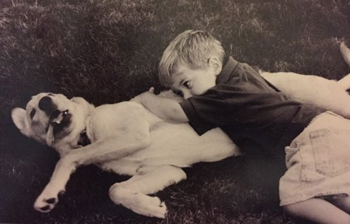 All I could summon up was a deep longing for a young dog, and an even younger son...